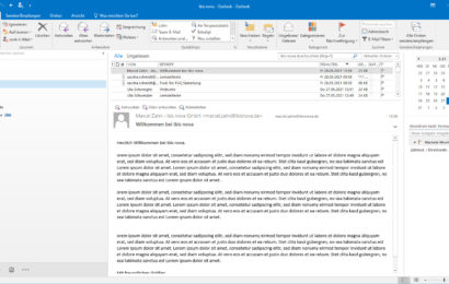 Screenshot MS Outlook